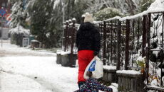 Śnieg w Zakopanem (PAP/Grzegorz Momot)