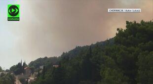 W południowej Chorwacji wybuchł pożar