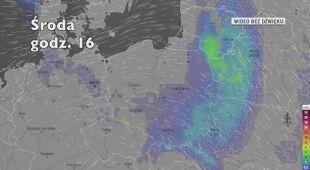 Prognozowane opady na najbliższe dni (Ventusky.com)