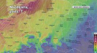 Prognozowany wiatr w kolejnych dniach (Ventusky.com)