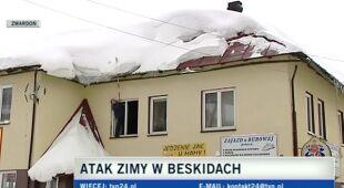 Odśnieżanie dachów w Zwardoniu (TVN24)